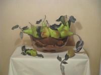 Sian Hopkinson Pears in Copper Bowl