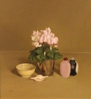Sian Hopkinson Cyclamen and Chinese Snuff Bottles