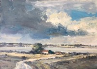 Ian Houston Landscape by the Orwell, Suffolk
