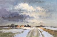 Ian Houston (b. 1934) The Thaw, North Norfolk