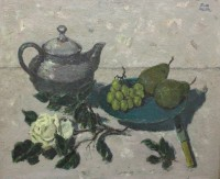 John Miller Still Life with Teapot and Grapes