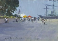 Ian Houston (b. 1934) Afternoon by the Cutty Sark, Greenwich