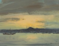 Ian Houston (b. 1934) Calm after a Storm, Istanbul
