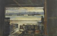 Ian Houston (b. 1934) Hong Kong - The Waterside at Cheung Chau