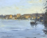 Ian Houston (b. 1934) Thames Ditton Reflections