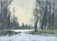 Ian Houston (b. 1934) The Edge of the Wood, Norfolk in Winter
