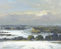 Ian Houston (b. 1934) The Thames from Richmond Hill, Winter