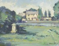 Ian Houston (b. 1934) The Trout Inn seen across the Thames