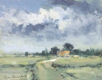 Ian Houston (b. 1934) The Road to the Farm, Sunlight after Rain
