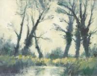 Ian Houston (b. 1934) Trees in Marshland by the Upper Thames