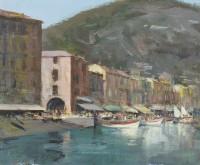 Ian Houston (b. 1934) Villefranche Waterfront