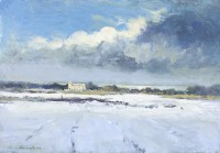 Ian Houston (b. 1934) Winter Landscape at Salthouse