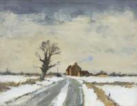 Ian Houston A Country Road After Snow, Near Fakenham, Norfolk
