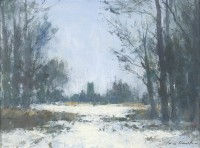 Ian Houston The Edge of the Wood in Snow