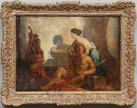 Mid 19th Century Italian School The Birth of Painting
