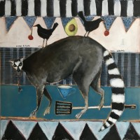 Janice Gray Lemur and Birds