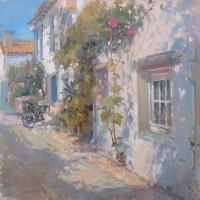 John Martin Afternoon Courtyard-Les Portes, Ile de Re