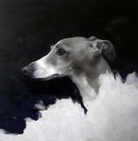 Justin Coburn Dog head study III