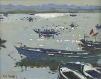 Ken Howard OBE RA (b. 1932) Morning Light Varanasi