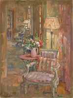 Susan Ryder RP NEAC Lamplight, Provence