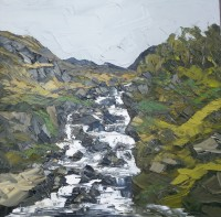 Martin Llewellyn Waterfall Near Lake Ogwen
