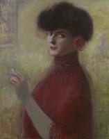 Louis Kronberg (1872–1965) Woman with a Cigarette