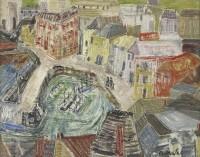 Grete Marks (1899-1990) Mevagissey from Polkirk Hill