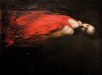 Mark Demsteader Reclined Study in Red
