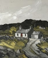 Martin Llewellyn Cottage with Red Door, North Wales