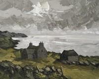 Martin Llewellyn Old Farmhouse above Cardigan Bay