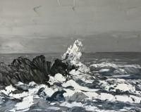 Martin Llewellyn Stormy sea off Ynys Llanddwyn