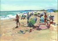 Luke Martineau Figures on a beach I