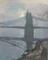 Luke Martineau Hammersmith Bridge, misty morning