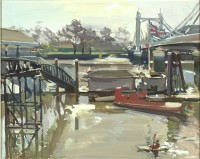 Luke Martineau Kayak at Albert Bridge