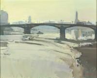 Luke Martineau Looking West through Battersea Bridge