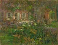 Susan Ryder RP NEAC Provence Terrace with Iris