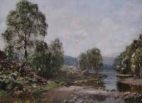 Walter MacAdam RSW (1866 - 1935) The Narrows, Loch Ard