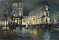 Michael Alford Aldwych, Winter Evening Rush Hour