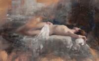 Michael Alford Sleeping Nude, Sienna II