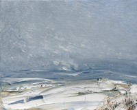 Oona Campbell Blowing Snow, Cranborne Chase, Wiltshire