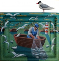PJ Crook MBE RWA FRSA Evening Fishers