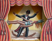 PJ Crook MBE RWA FRSA Lorenzo and the Levitating Lady