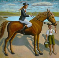 PJ Crook MBE RWA FRSA Red
