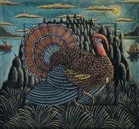 PJ Crook MBE RWA FRSA Turkey on the Hill