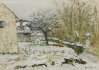 Paul Maze Treyford under Snow