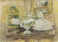 Paul Maze Still Life with Flowers and Tureen