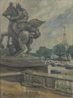 Paul Maze The Eiffel Tower from the Tuileries