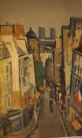 Nils Ove Olson Parisian Street Scene