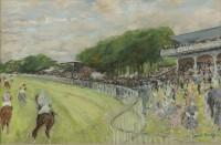 Paul Maze A Race at Goodwood