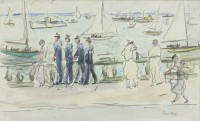 Paul Maze French Sailors at Cowes